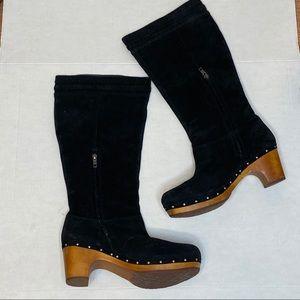 UGG Rossabella clog suede boots